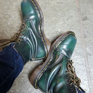 Dr Martens Green RUB Made In England Leather Boots